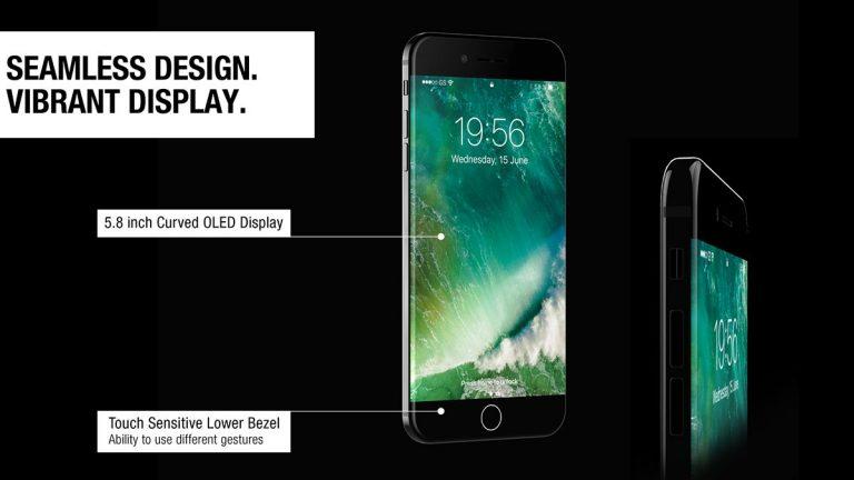 """Povedený koncept iPhonu 8 s 5,8"""" OLED displejem"""