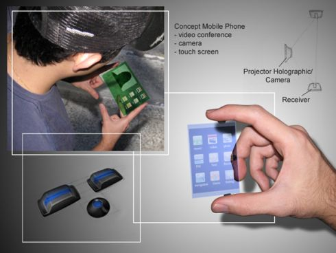 Projector-Based Concept Phone is Holographic  Now Wait a