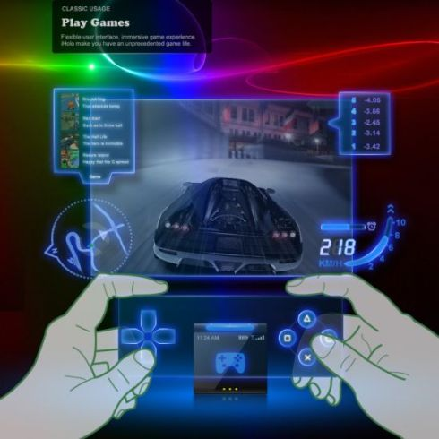 Iholo Futuristic Cellphone Relies On Holograms