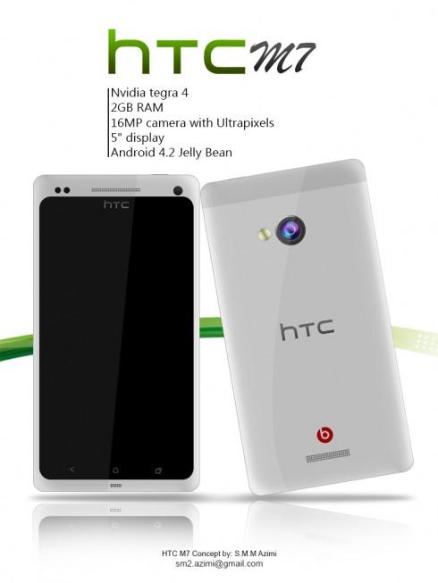 HTC M7 Tegra 4 Render is Fancy