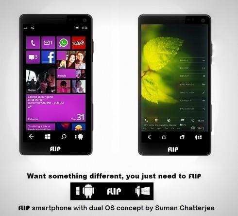 flip smartphone dual OS