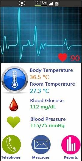 S-Health Tizen UI