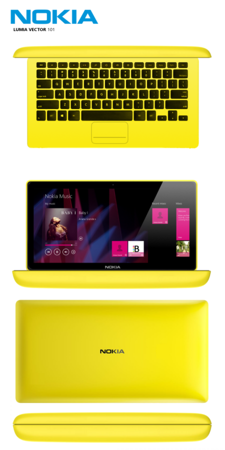 Nokia Lumia Vector 101 laptop concept