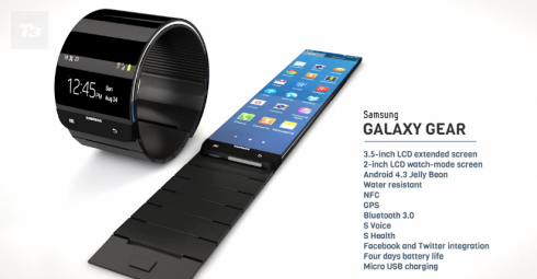 Samsung Galaxy Gear render 2