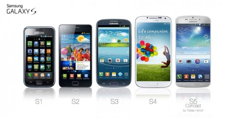 galaxy s1 s2 s3 s4 s5 evolution