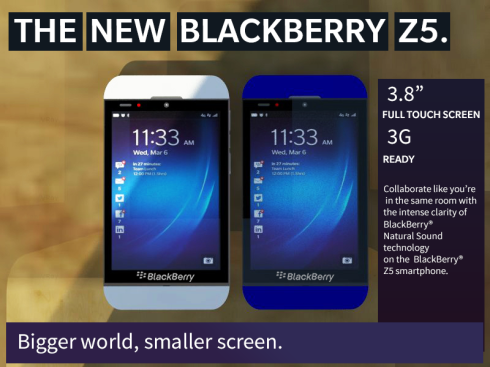 BlackBerry Z5 concept 1