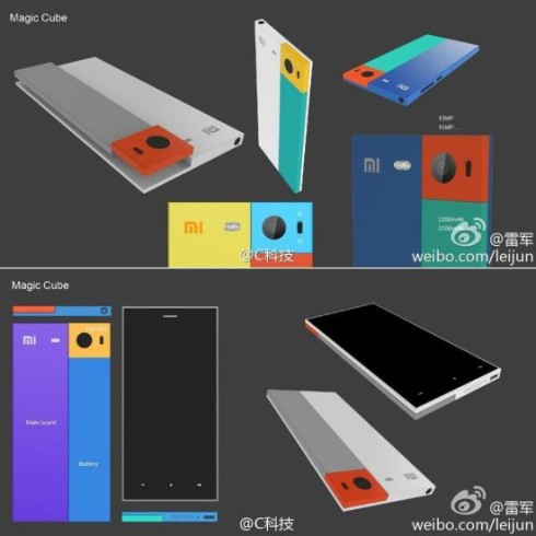xiaomi modular phone magic cube