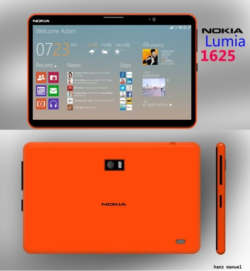 Nokia Lumia 1625 tablet concept