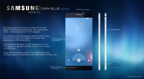 Samsung Galaxy Note 4 concept 1