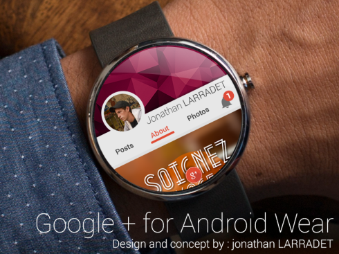 Google+ Android Wear Moto 360 concept
