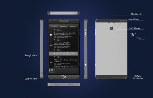 BlackBerry physical keyboard concept 8