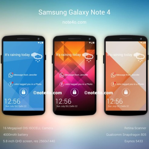 galaxy note 4 render