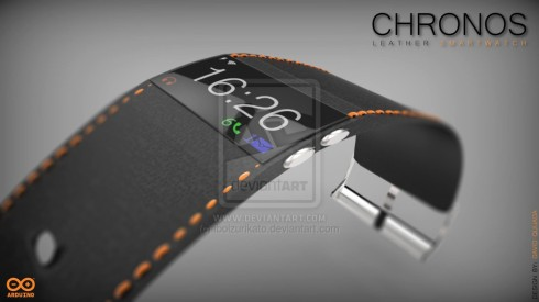 chronos smartwatch leather