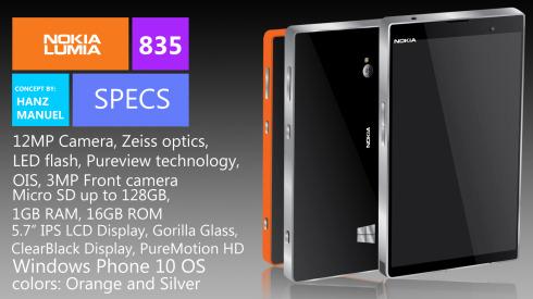 Nokia Lumia 835 concept 2