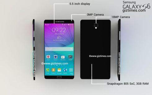 Samsung Galaxy S6 metallic