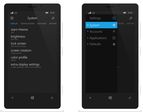 Windows 10 for Mobile concept 5