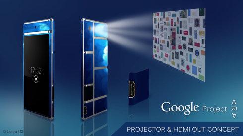 project ara HDMI module projector concept