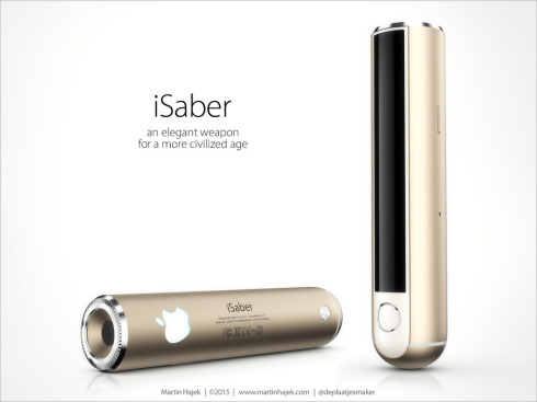 Apple iSaber light saber concept 2
