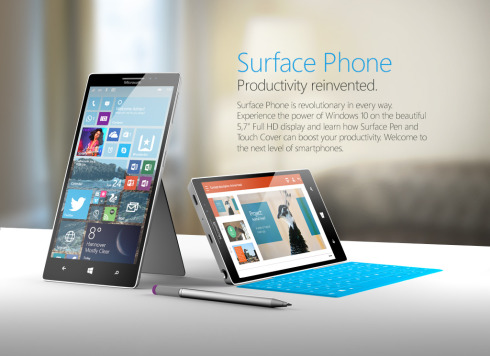 Surface Phone Windows 10 concept 1