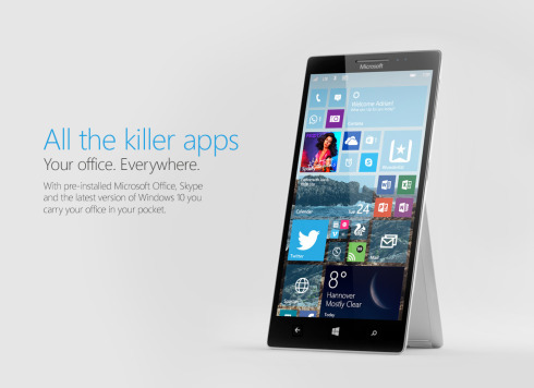 Surface Phone Windows 10 concept 2