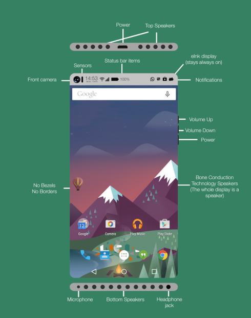 minimalistic concept phone
