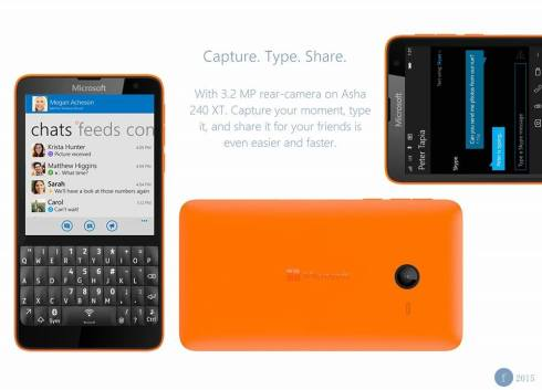 Microsoft Asha 240 XT Windows 10 phone 2