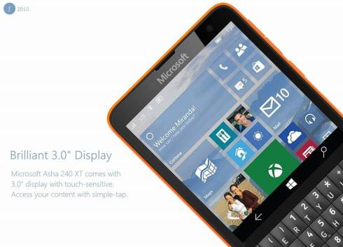 Microsoft Asha 240 XT Windows 10 phone 4