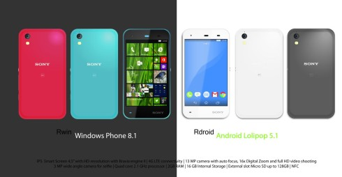 Sony Xperia R concept Windows and Android dual boot 2