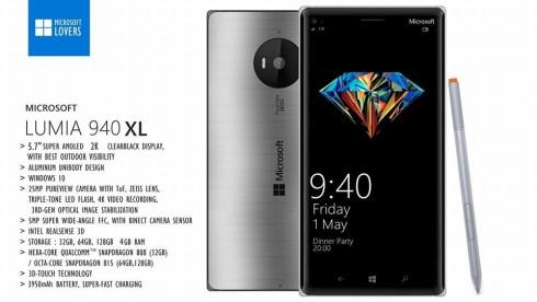 microsoft lumia 940 XL concept may 2015