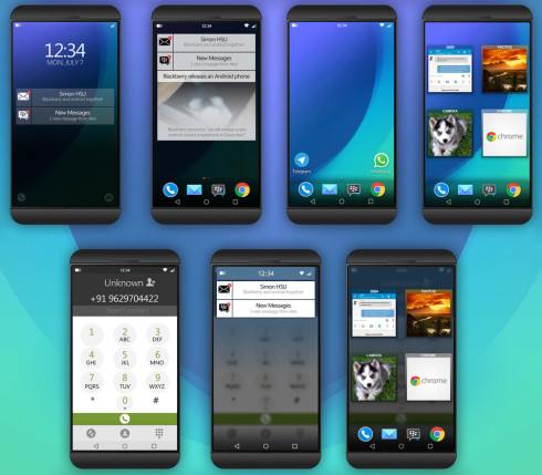 BlackBerry Android smartphone concept