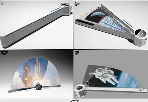 Folding fan phone concept 2