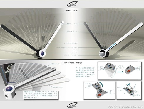 Folding fan phone concept 3