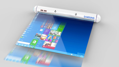 Samsung Flexible Roll tablet concept 1