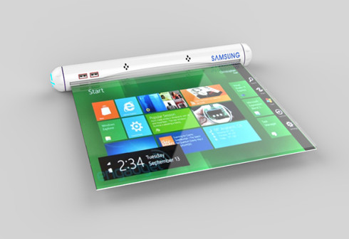 Samsung Flexible Roll tablet concept 2