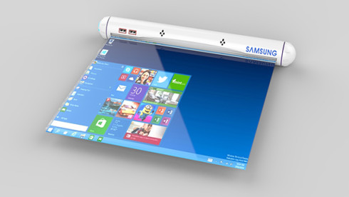 Samsung Flexible Roll tablet concept 4