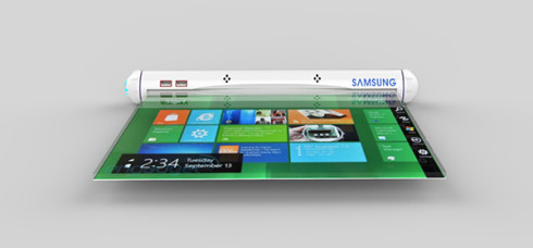 Samsung Flexible Roll tablet concept 5