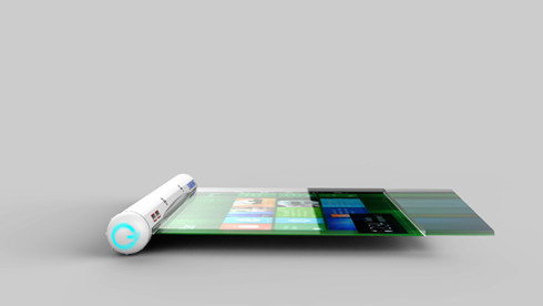 Samsung Flexible Roll tablet concept 6