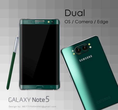 galaxy note 5 dual concept