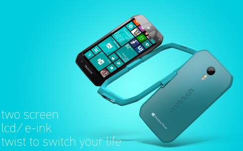 Alcatel Dual display Windows Phone concept 1