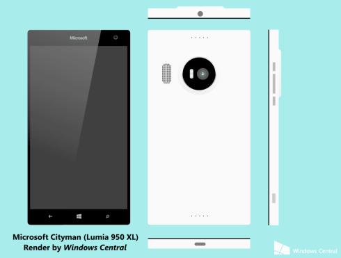 Microsoft cityman lumia 950 xl mockup