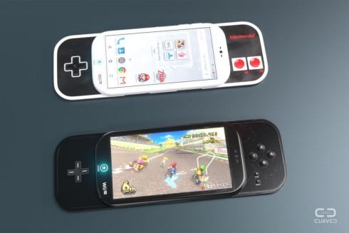 Nintendo smartphone concept curved de 8