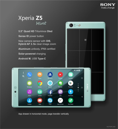 Sony Xperia Z5 concept solar power 4