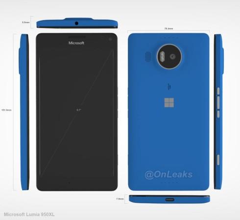 Microsoft Lumia 950 XL CAD leak