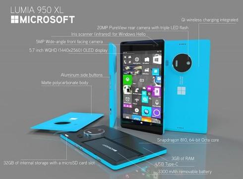 Microsoft Lumia 950 XL slim concept 2