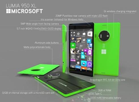 Microsoft Lumia 950 XL slim concept 3