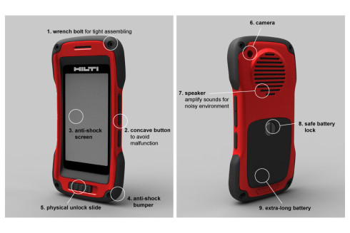 Hilti rugged phone concept 3