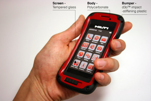 Hilti rugged phone concept 5