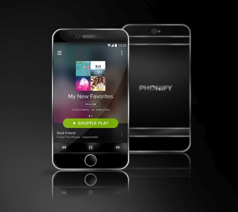 Phonify Spotify concept phone 1