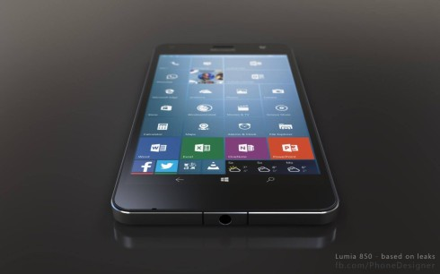 Lumia 850 phone designer render 1