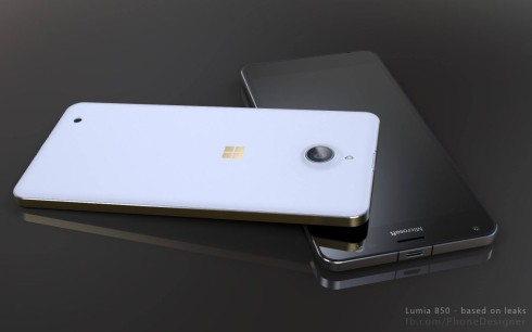 Lumia 850 phone designer render 2